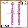 popular reloj lindo lleno de colores de encargo 3d de dibujos animados los niños correa de reloj