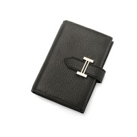 Classic men leather wallet credit card