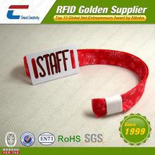Adjustable cotton ntag203 RFID bracelet