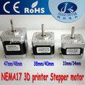 42mm nema 17 motore passo-passo per stampante 3d e robot con certificazione ce e rohs