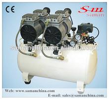 Lightweight oil free silent piston air compressor