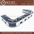 2014 vendita calda buffet contatore, moderno ristorante buffet attrezzature, buffet di riscaldamento