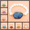 BRH1263 Fashion Opal Beaded Druzy Bracelet,Wholesale Druzy Jewelry Bracelet