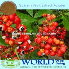100% Natural Lose Weight Medicine Guarana Seed Extract Powder10%-60% Caffeine/Guarana Extract Powder/Guarana Extract
