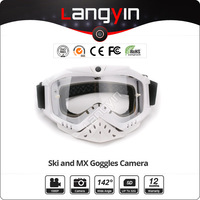 5mp wide angle Full HD 1080P motorcycle and skiing snowboard goggles Camera Glasses