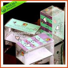 2015 China Printed soft crease clear plastic PVC box