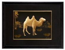 Genuine 3d Picture Frames With Camel Design Antique Gold Leaf Frame Wall Mirror Home Decoration