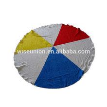 online microfibre OEM brand name round printed beach towels