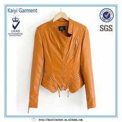 Windbreaker ladies office coat jacket leather motorcycle