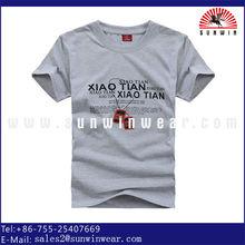 100% cotton indonesia t-shirts fashion men's grey tshirts