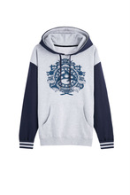 men's print dolphin french terry knitted hoodie