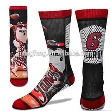 custom 100 cotton men basketball sports socks