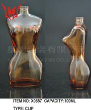 Parfum design de la bouteille avec femme corps forme usine de bouteille de parfum