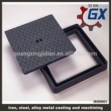 asphalt painted BS EN124 standard ductile iron manhole cover and frame