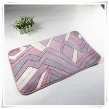 Anti-bacterial bath accessories sets with natural latex backing large bathroom rugs online
