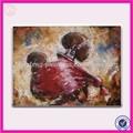 Afrika kadın ve bebek yağlıboya tuval, hf-fzn016-1