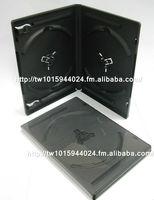 7mm 14mm black media packaging standard single DVD case