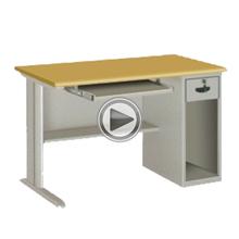 Cheap durable standard executive metal office desk