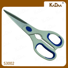 Utility Stainless steel shearing scissors with nut cracker