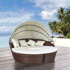 Garden Furniture Sets Wicker Round Sun Bed