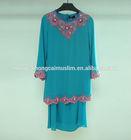 2014 new arrival different color kaftan long sleeve beaded chiffon abaya,dubai evening dress