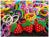 2014 yiwu cheap wholesale crazy rainbow color loom bands for DIY bracelet with CE made in china