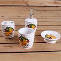 moda decalcomania 4 pezzi design limone accessori da bagno in ceramica