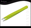 Nice Green color slanted tweezers printed