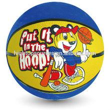 mini rubber basketball for kids , school training baskteball customized design