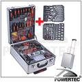 powertec 186 pcs mão kit de ferramentas com caixa de alumínio