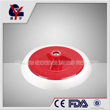 backing with velcro 4 inch plastic red foam polishing pad
