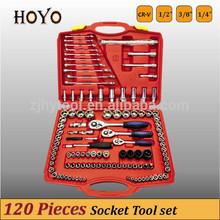 """1/2"""" &3/8"""" &1/4"""" Dr.120PCS Socket Set/High Quality Spanner Socket Set"""