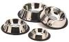 Stainless Steel Pet Bowls / Dog bowl : non tip & anti skid.