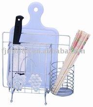 Organizador de cocina cromo- plateado alambre de plata de la cocina de almacenamiento en rack