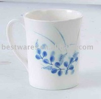 Professional white melamine cups & mugs with handle for drinking water