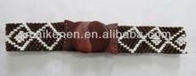 2013 Yiwu hot sale handmade wood beaded belt