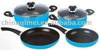6pcs non-stick Aluminum cookware set