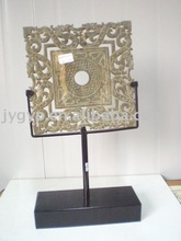big square decorating carved jade Bi