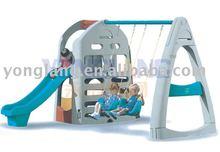 Plastic kids swing and slide