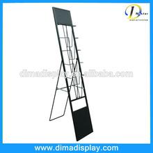 convenient advertising metal catalogue literature magazine brochure holder material shelf wire racks stand display
