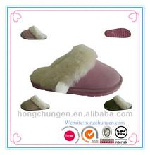 New design EVA sole with warm fur suede indoor winter slipper