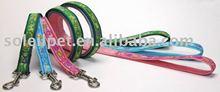 Pet collar - embroidered fancy dog leash K1226