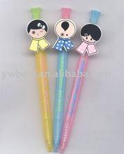 whole-sale plastic cartoon ball pen on sale,stock plastic ball pen,cheap ballpoint pen