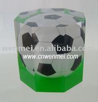 Lucite gift will football inside, Handicraft making