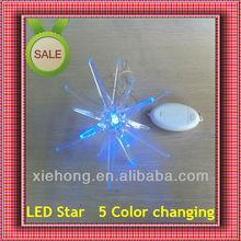 Christmas hanging & electric Acrylic plastic star lights christmas