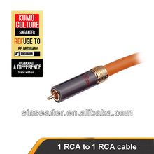 High quality metal casing RCA to RCA cable