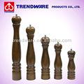 Zinc- aleación de acero mecanismo manual nogal acabado madera molino de pimienta