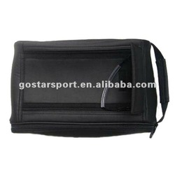 Black PU Golf Shoes Bag