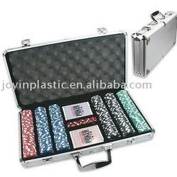 aluminum Quality Poker Chip/deluxe poker chip set/ 300 pcs aluminum poker set