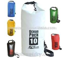 500D Trapaulin ocean pack dry bag with shoulder strap